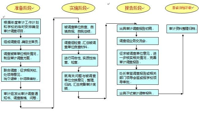 审计调查项目流程图